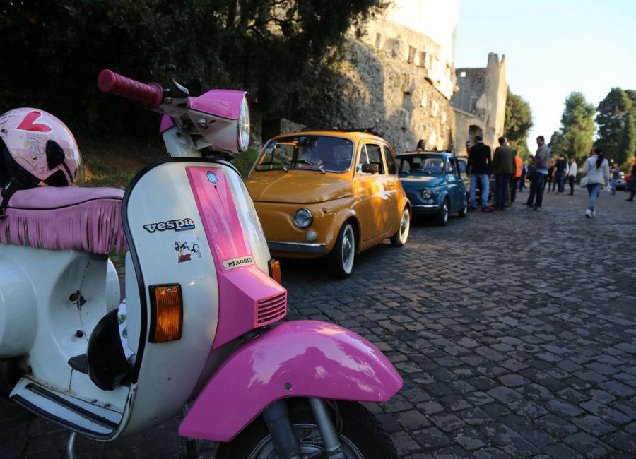 Rallye Vespa et Fiat 500 à Rome